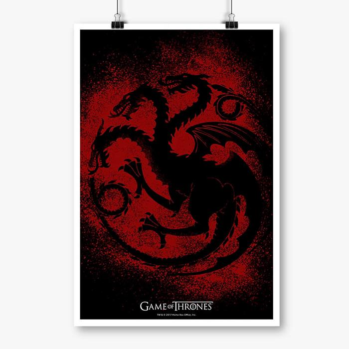 House Targaryen Sigil Splatter - Game Of Thrones Official Poster