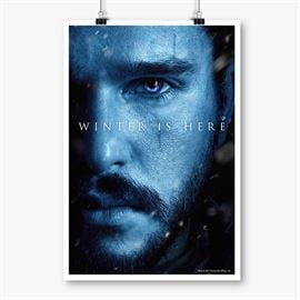 Jon Snow: Winter Is Here - Game Of Thrones Official Poster