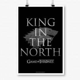 King In the North: Black - Game Of Thrones Official Poster