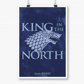 King In the North - Game Of Thrones Official Poster