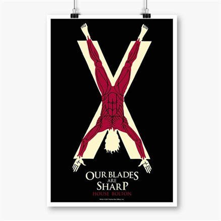 Our Blades Are Sharp - Game Of Thrones Official Poster