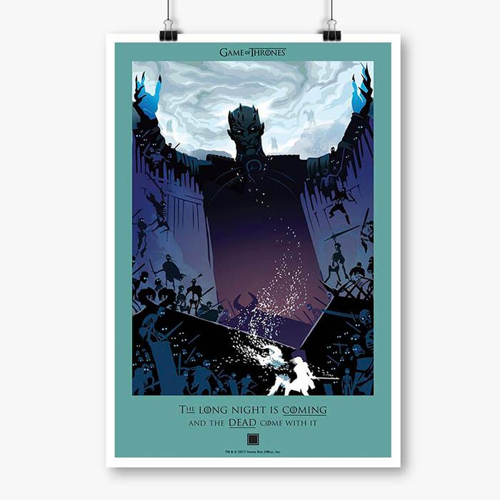 The Dead Are Coming: Beautiful Death - Game Of Thrones Official Poster