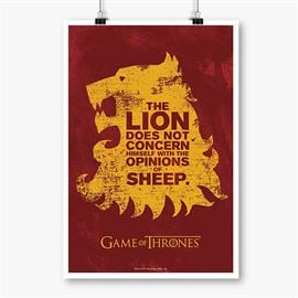 The Lion And The Sheep - Game Of Thrones Official Poster