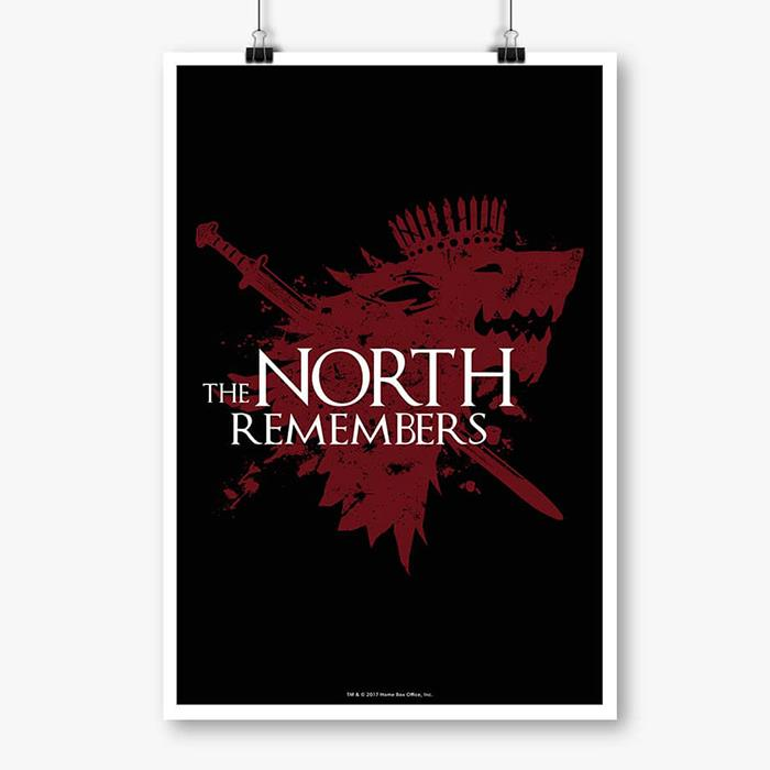 The North Remembers: Black - Game Of Thrones Official Poster