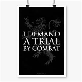 Trial By Combat - Game Of Thrones Official Poster