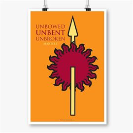 Unbowed Unbent Unbroken - Game Of Thrones Official Poster