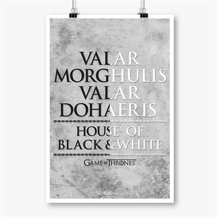 Valar Morghulis - Game Of Thrones Official Poster