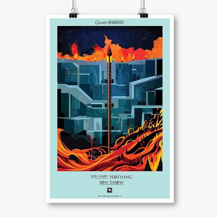 You Know Nothing: Beautiful Death - Game Of Thrones Official Poster