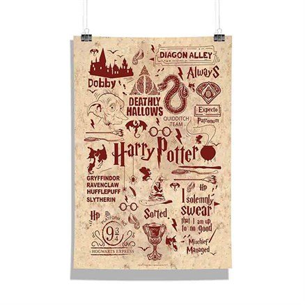 Harry Potter: Infographic Red