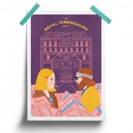 Tenenbaums at Budapest Hotel - Poster