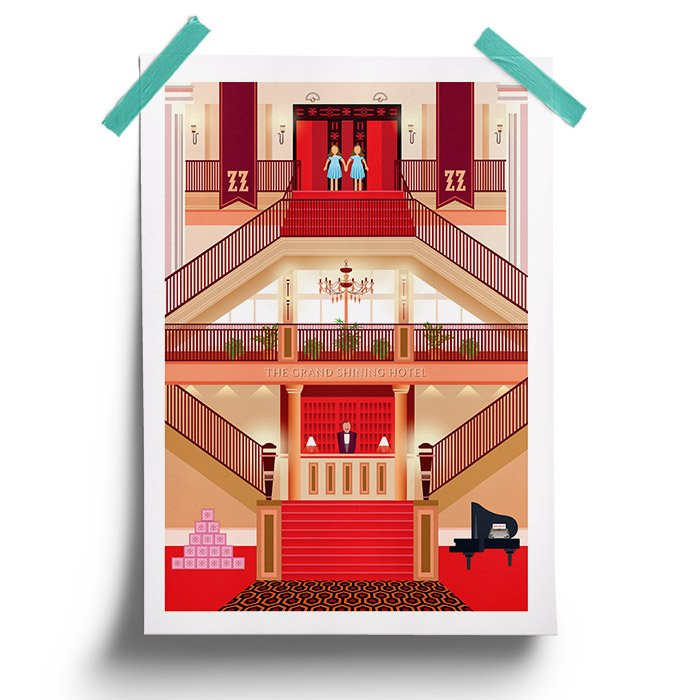The Grand Budapest Hotel x The Shining - Poster