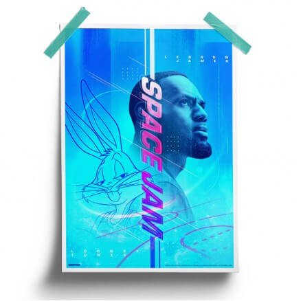 LeBron & Bugs - Space Jam Official Poster