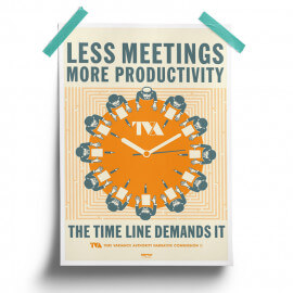 Less Meetings More Productivity -  Marvel Official Poster