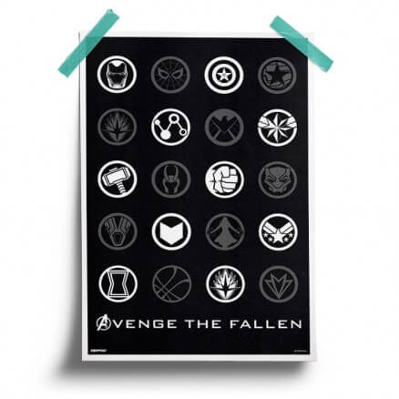 Avenge The Fallen - Marvel Official Poster