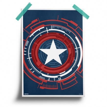 Mechanical Shield - Marvel Official Poster