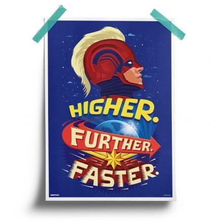 Captain Marvel: Higher Further Faster - Marvel Official Poster