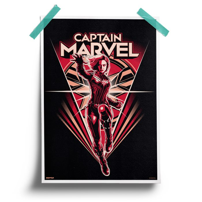 Captain Marvel Illustration - Marvel Official Poster