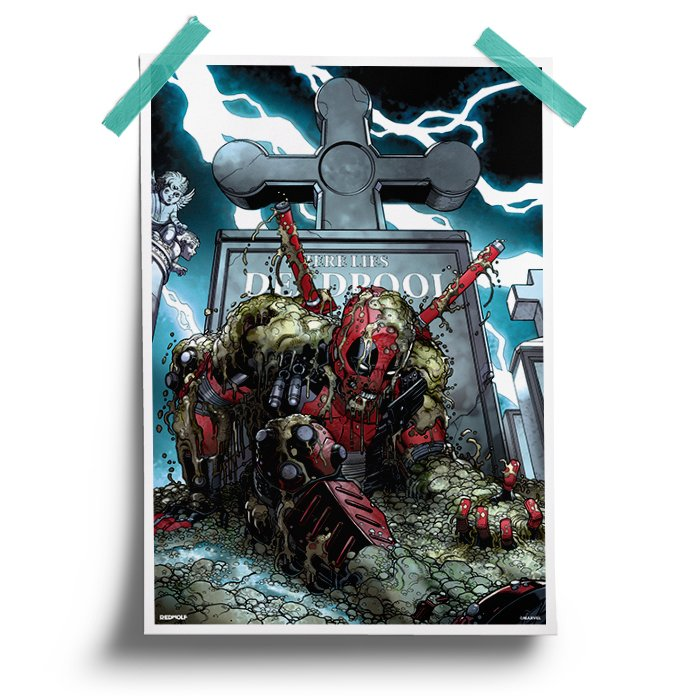Zombie Deadpool - Marvel Official Poster