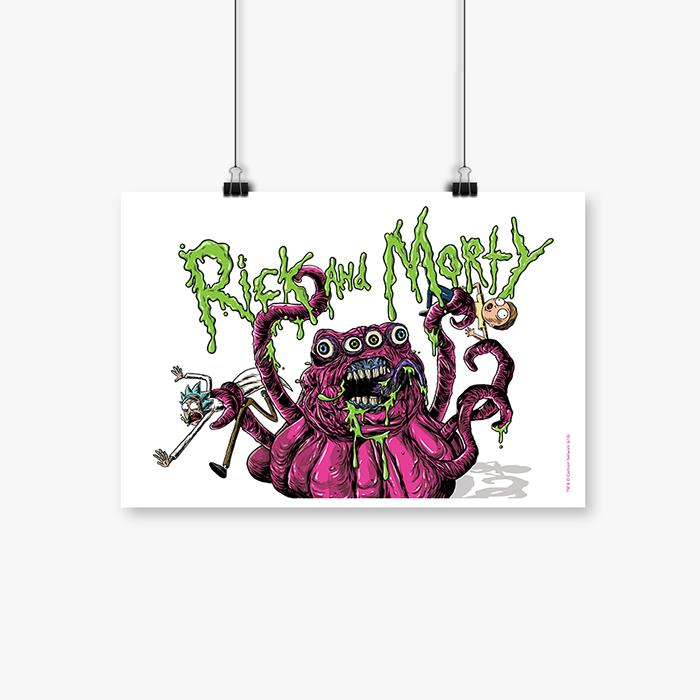 Four Eyed Monster - Rick And Morty Official Poster