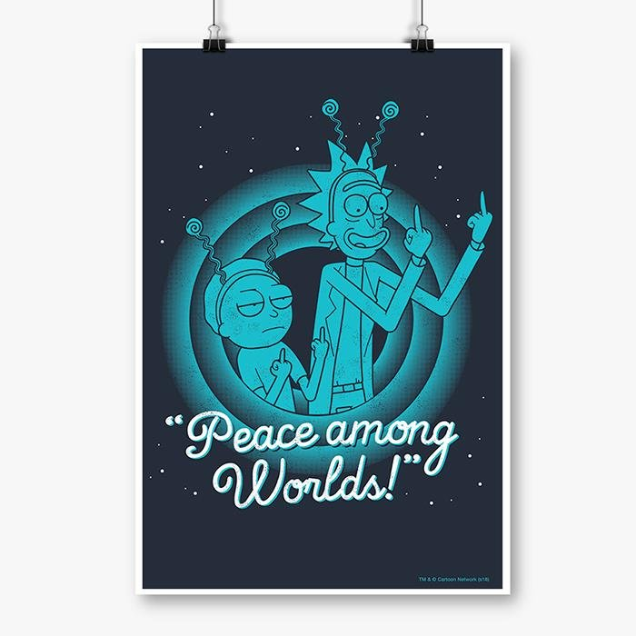Peace Among Worlds - Rick And Morty Official Poster