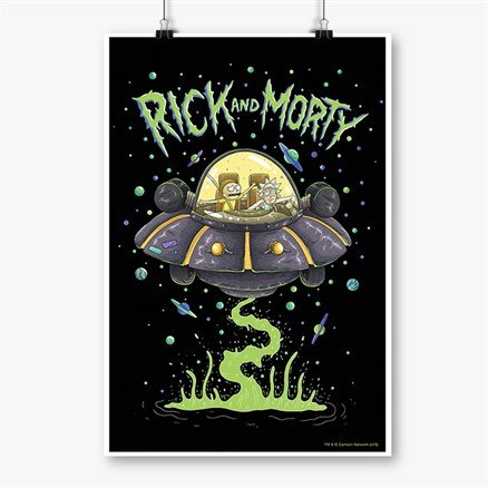 Space Cruiser - Rick And Morty Official Poster