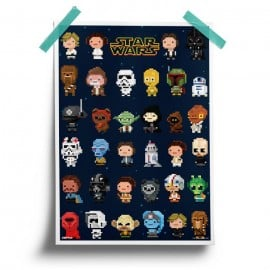 Star Wars: 8-Bit Characters - Star Wars Official Poster