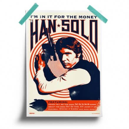 Han Solo: Money - Star Wars Official Poster