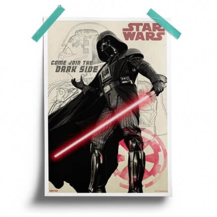 Join The Dark Side - Star Wars Official Poster