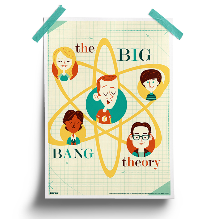 TBBT Caricature - The Big Bang Theory Official Poster