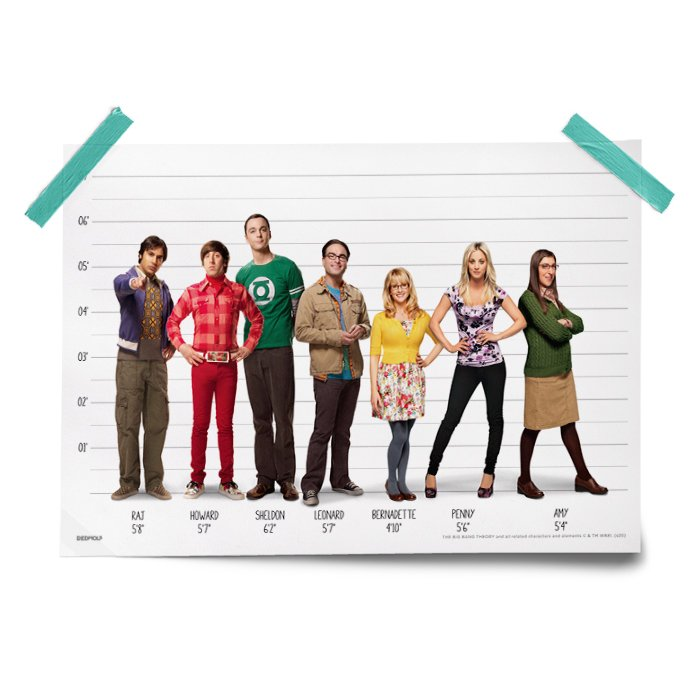 TBBT: Size Chart - The Big Bang Theory Official Poster
