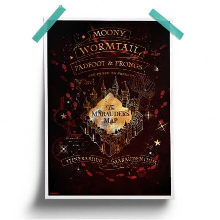 The Marauder's Map - Harry Potter Official Poster