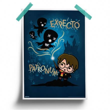 The Patronus Charm Chibi - Harry Potter Official Poster