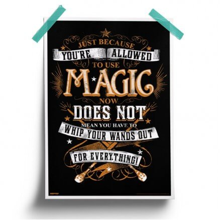 To Use Magic - Harry Potter Official Poster