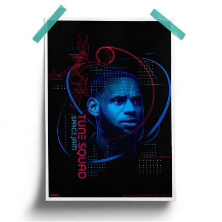 LeBron James: Wireframe - Space Jam Official Poster