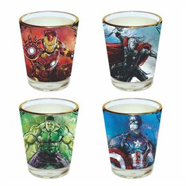 Avengers Art - Official Marvel Comics Shot Glass Set
