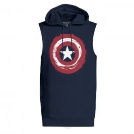 Super Soldier Shield - Marvel Official Sleeveless Hoodie