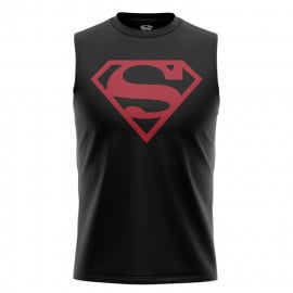 Black Superman Logo - Superman Official Sleeveless T-shirt