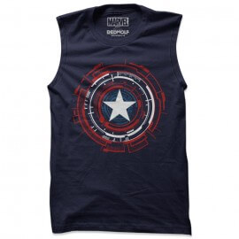 Captain America: Mechanical Shield - Marvel Official Sleeveless T-shirt