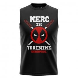 Merc In Training - Marvel Official Sleeveless T-shirt