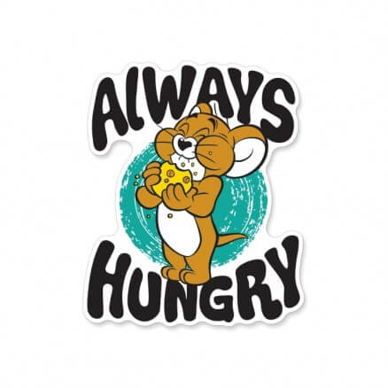 Always Hungry - Tom And Jerry Official Sticker
