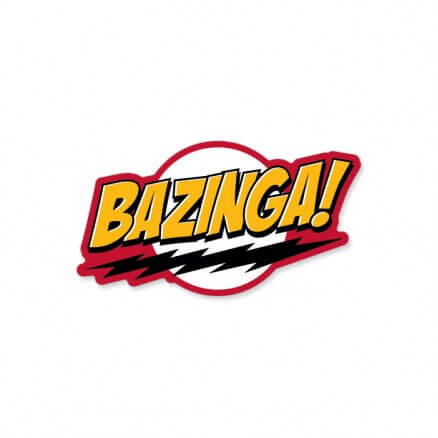 Bazinga! - The Big Bang Theory Official Sticker