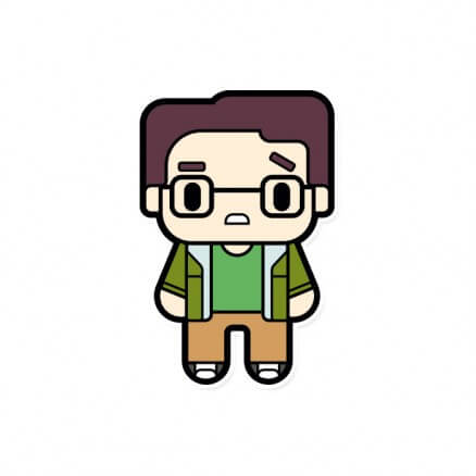 Chibi Leonard - The Big Bang Theory Official Sticker