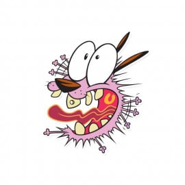 Courage - Courage The Cowardly Dog Official Sticker