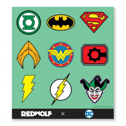 DC Comics: Logos - DC Comics Official Sticker Sheet