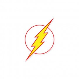 The Flash Classic Logo - DC Comics Official Sticker