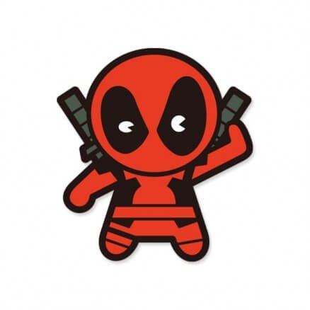 Deadpool Chibi - Marvel Official Sticker