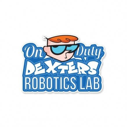 Dexter On Duty - Dexter's Laboratory Official Sticker
