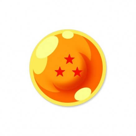 Three Star Dragon Ball - Dragon Ball Z Official Sticker