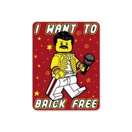 Brick Free - Sticker