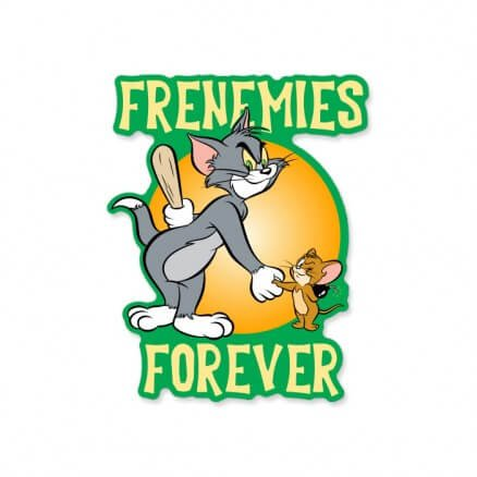 Frenemies Forever - Tom And Jerry Official Sticker